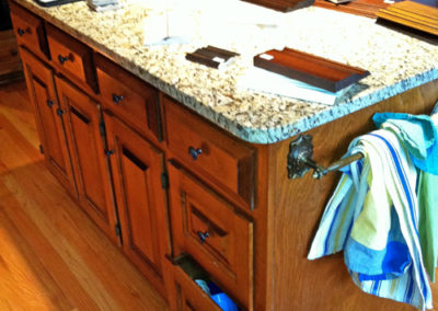 Before-Painted-Kitchen-Island-with-Wood-Top
