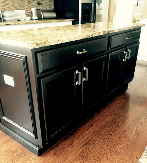 Black Painted Kitchen Island Over Easy Kitchens