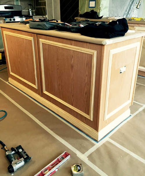 Painting oak cabinets before