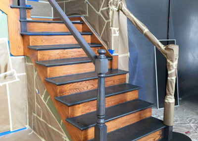 Staircase-Refinishing-During