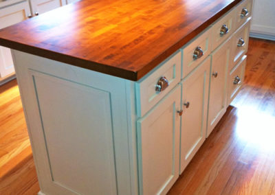 White-Painted-Kitchen-Island-with-Wood-Top